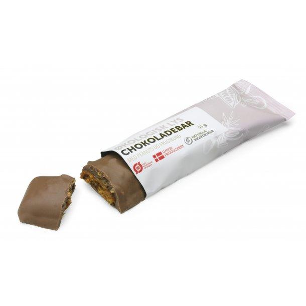 Økologisk, lys chokoladebar m/ PEANUTBUTTER 53G